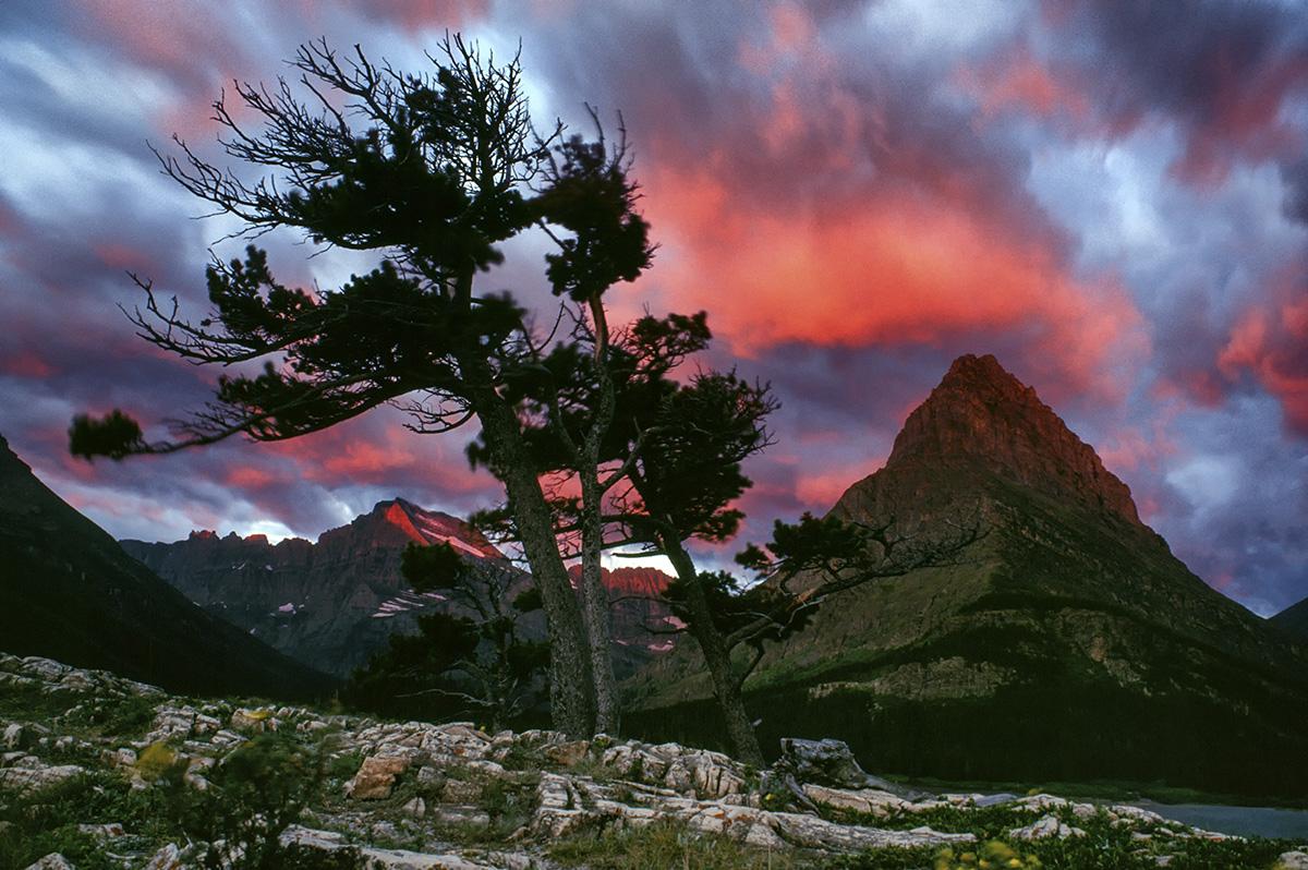 Sunrise at mount Grinnell, Glacier National Park